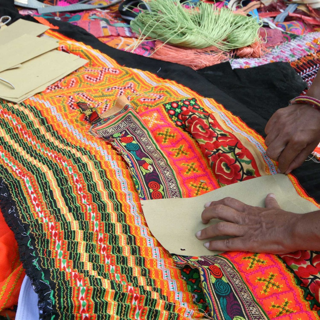 Complicated and detailed patchwork job