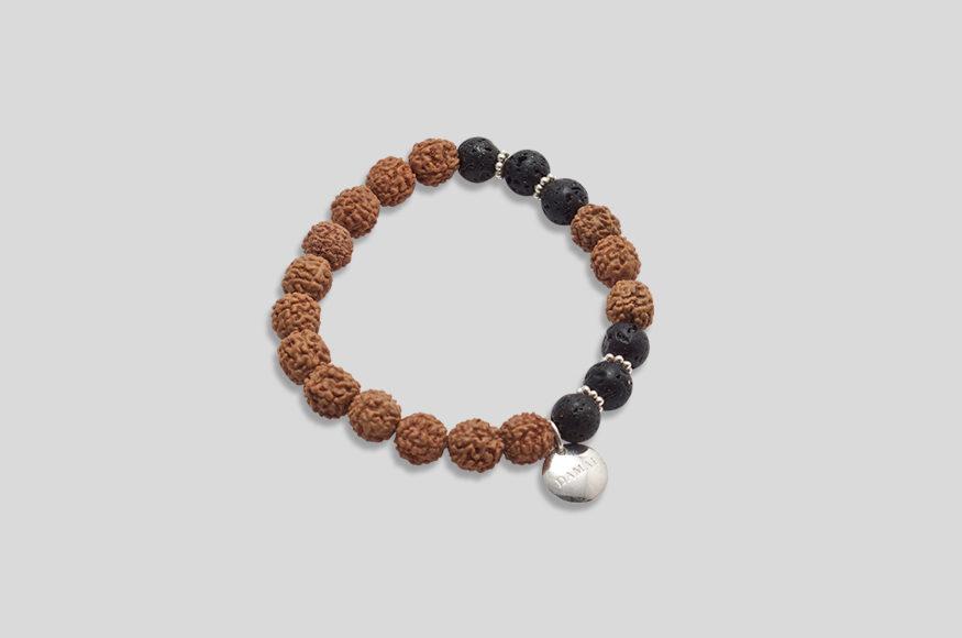 Lava Diffuser /& Rudraksha Beaded Bracelet